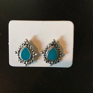 New Boho Chic Turquoise Drop Earrings